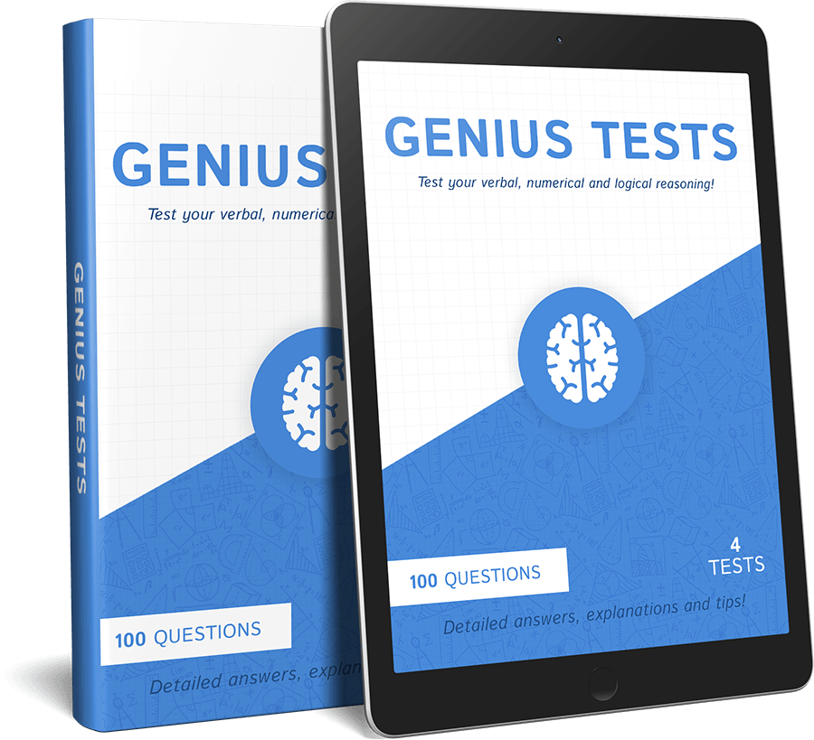 Genius Tests 100 Question IQ Test Practice Guide
